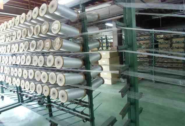 複数のボビンから束を作る:バンドル加工。